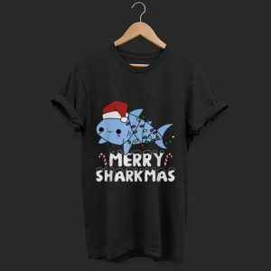 Premium Santa Shark Merry Sharkmas Christmas shirt