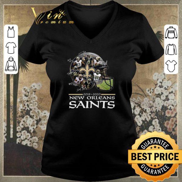 Premium Signature New Orleans Saints 2019 2020 players all shirt