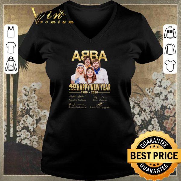 Premium Signatures ABBA 40 years Happy New Year 1980-2020 shirt