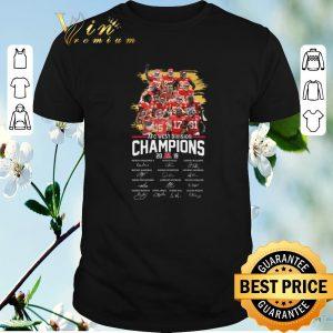 Premium signatures kansas city chiefs afc west division champions 2019 shirt