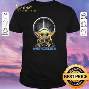 Pretty Baby Yoda hug Mercedes-Benz Star Wars shirt sweater