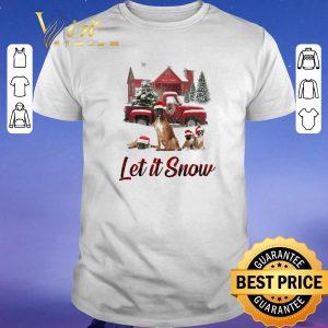 Pretty Christmas Santa Boxer Let It Snow shirt