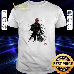 Pretty Darth Maul Sith Lord Star Wars Sumi-E shirt