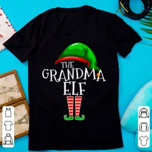 Pretty Grandma Elf Group Matching Family Christmas Gift Women Funny sweater