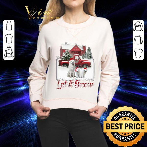 Pretty Great Pyrenees let it snow Christmas shirt