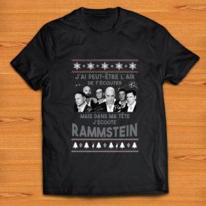 Pretty Mais Dans Ma Tête J'ecoute Rammstein Ugly Christmas shirt