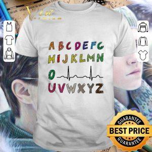 Pretty Nurse Alphabet heartbeat shirt