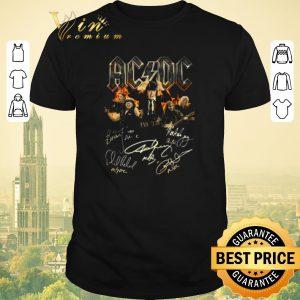 Pretty Signatures ACDC band music shirt