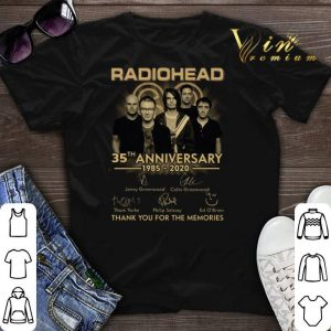 Radiohead 35th anniversary 1985 2020 signed thank for memories shirt sweater