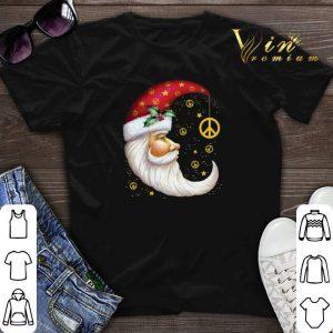 Santa Claus moon peace symbols Christmas shirt sweater