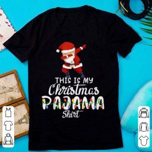 This is My Christmas Pajama Funny Dabbing Santa Claus sweater