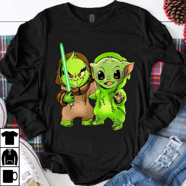 Top Baby Yoda and Baby Grinch shirt