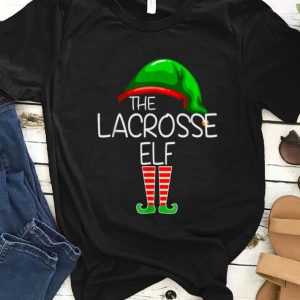 Top I'm The Lacrosse Elf Funny Group Matching Family Xmas Gift sweater