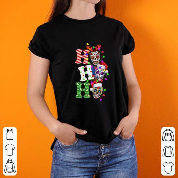 Top Sugar Skull Ho Ho Ho Christmas shirt
