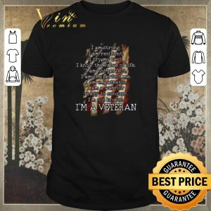 Awesome American flag i am strong i am resilient my best i'm a veteran shirt sweater