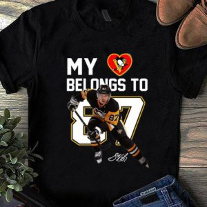 Awesome My Heart Pittsburgh Penguins Belongs To 87 Hockey Signature shirt
