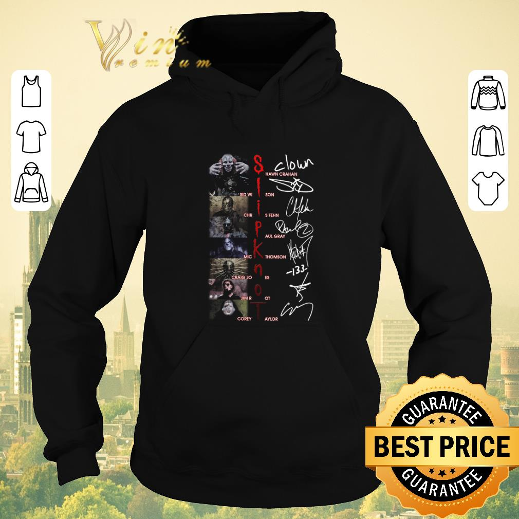 Awesome Slipknot SHawn Crahan Sid Wilson Chris Fehn Paul Gray Signatures shirt sweater 4 - Awesome Slipknot SHawn Crahan Sid Wilson Chris Fehn Paul Gray Signatures shirt sweater