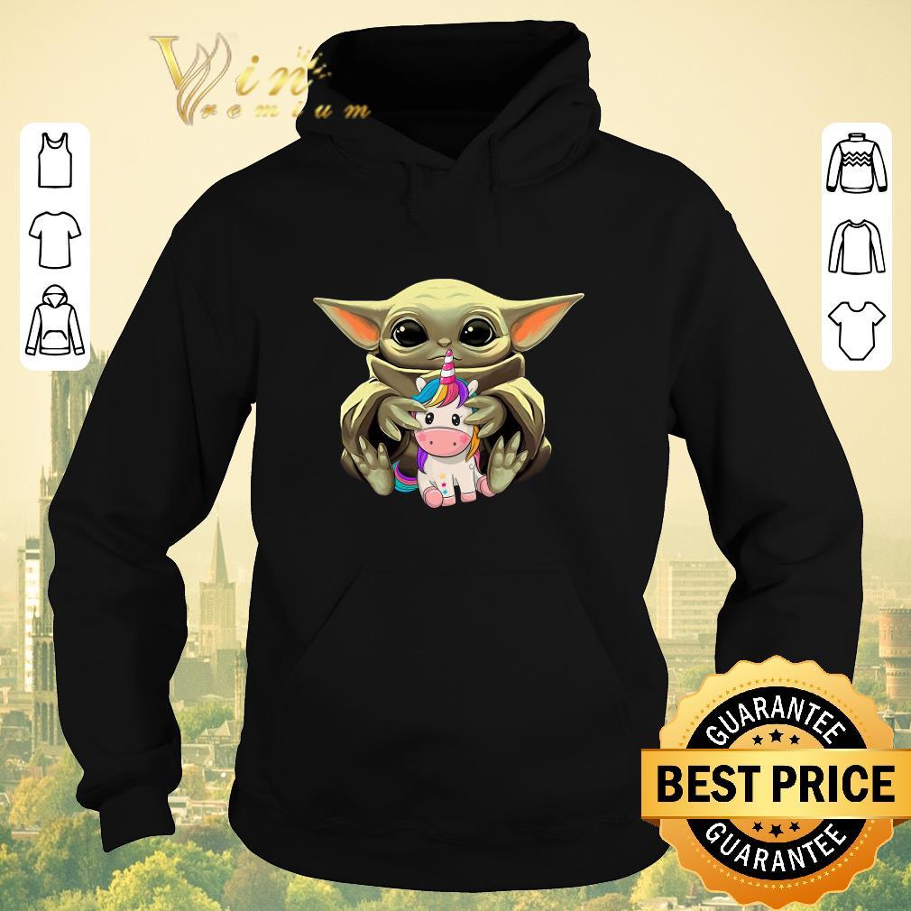 Awesome Star Wars Baby Yoda Hug Unicorn shirt sweater 4 - Awesome Star Wars Baby Yoda Hug Unicorn shirt sweater