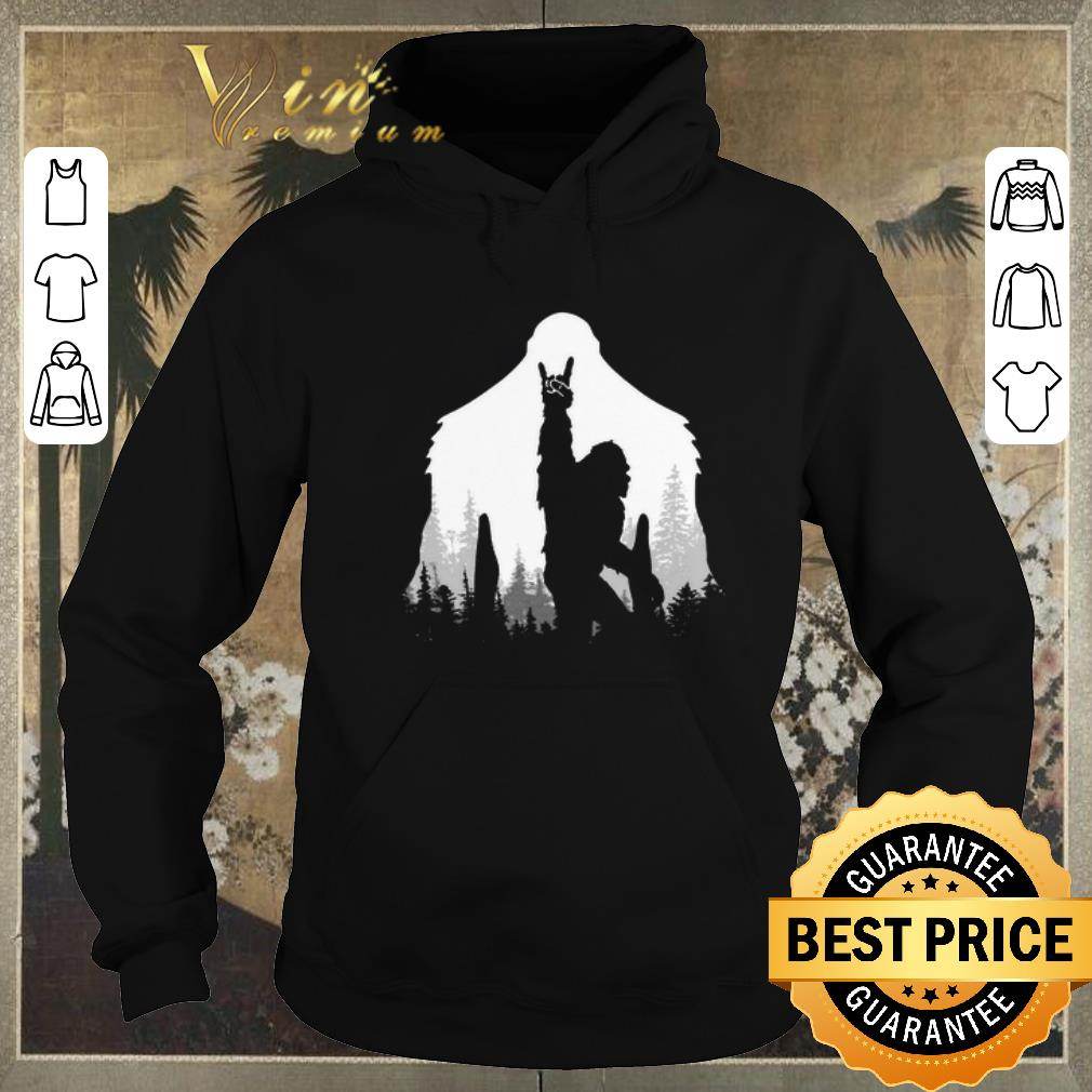 Funny Bigfoot Rock and Roll hand sign natural shirt sweater 4 - Funny Bigfoot Rock and Roll hand sign natural shirt sweater