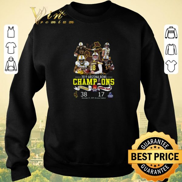 Hot Wyoming 2019 Arizona Bowl Champions Wyoming vs Georgia State shirt sweater
