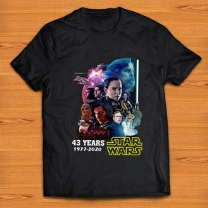 Nice 43 Years Of Star Wars 1977-2020 shirt