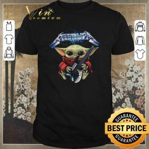 Nice Baby Yoda hug Metallica guitar White Zombie shirt sweater