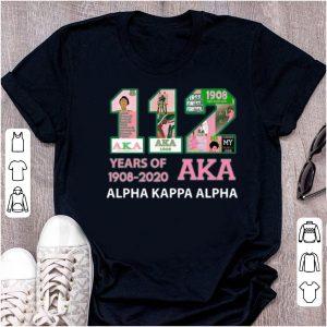 Official 112 Years Of Aka Alpha Kappa Alpha 1908-2020 shirt