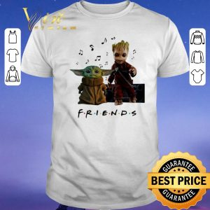 Official Baby Yoda And Baby Groot Friends Music Note shirt sweater