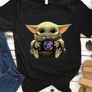 Official Star Wars Baby Yoda Hug Camera shirt