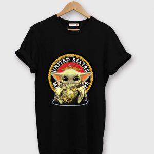 Original Baby Yoda Hug United States Marine Corps shirt