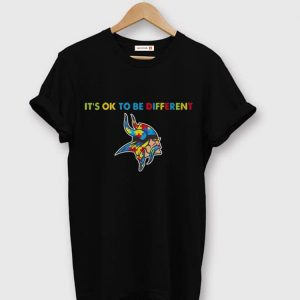 Original Minnesota Vikings Autism It's Ok To Be Different shirt