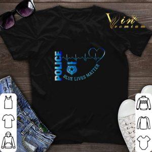 Police Blue Lives Matter Heartbeat shirt sweater