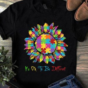 Premium Autism Sunflower It's Ok To Be Different shirt