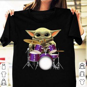 Premium Baby Yoda Hug Drummers shirt