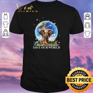 Premium Earth elephant animals save our world.png sweater