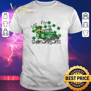 Premium Here For The Shenanigans Irish St. Patrick's day shirt sweater