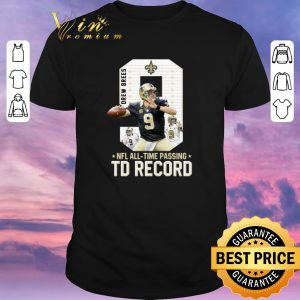 Pretty 09 Drew Brees NFL all time passing to record shirt sweater
