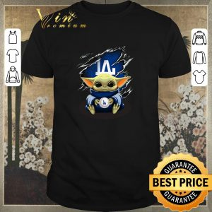 Pretty Baby Yoda Blood Inside Los Angeles Dodgers shirt sweater