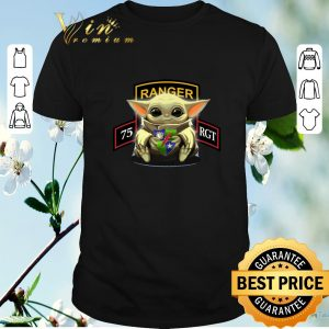 Pretty Baby Yoda Hug 75th Ranger Regiment shirt sweater