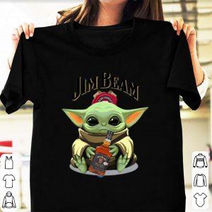 Pretty Baby Yoda Hug Jim Beam shirt