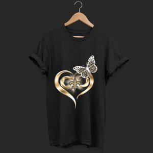 Pretty Butterfly Love New Orleans Saints shirt