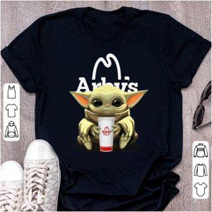 Pretty Star Wars Baby Yoda Hug Arby's shirt