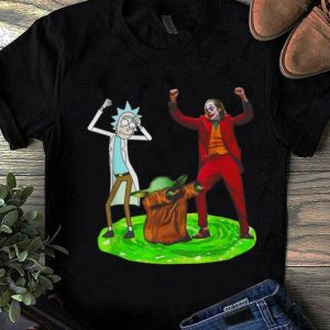 Top Rick Sanchez Baby Yoda And Joker Dance shirt