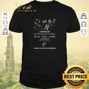 Top SW 15 Years Of Supernatural Thank You For The Memories shirt sweater