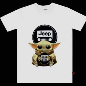 Top Star Wars Baby Yoda Hug Jeep shirt