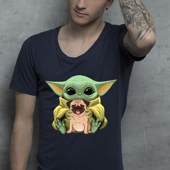 Top Star Wars Baby Yoda Hug Pug Dog Lovers shirt 4 - Top Star Wars Baby Yoda Hug Pug Dog Lovers shirt