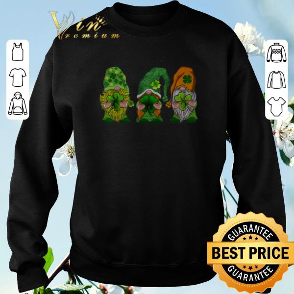 Top Three Gnomes Happy St Patrick's Day shirt sweater