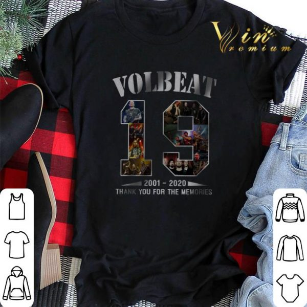 19 Years of VolBeat 2001 2020 thank you for the memories shirt sweater