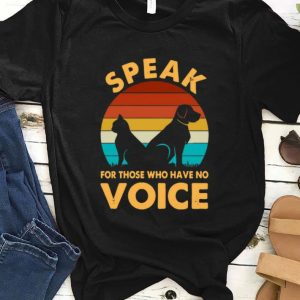 Awesome Speak for those who have no voice sunset shirt