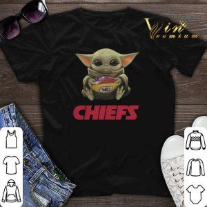 Baby Yoda hug Kansas City Chiefs Logo ball Star Wars shirt sweater